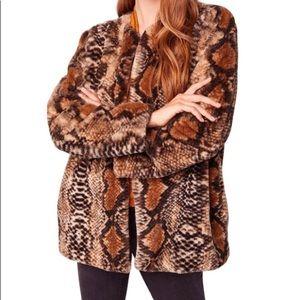 BAND of GYPSIES Fur Snake Coat NWTS